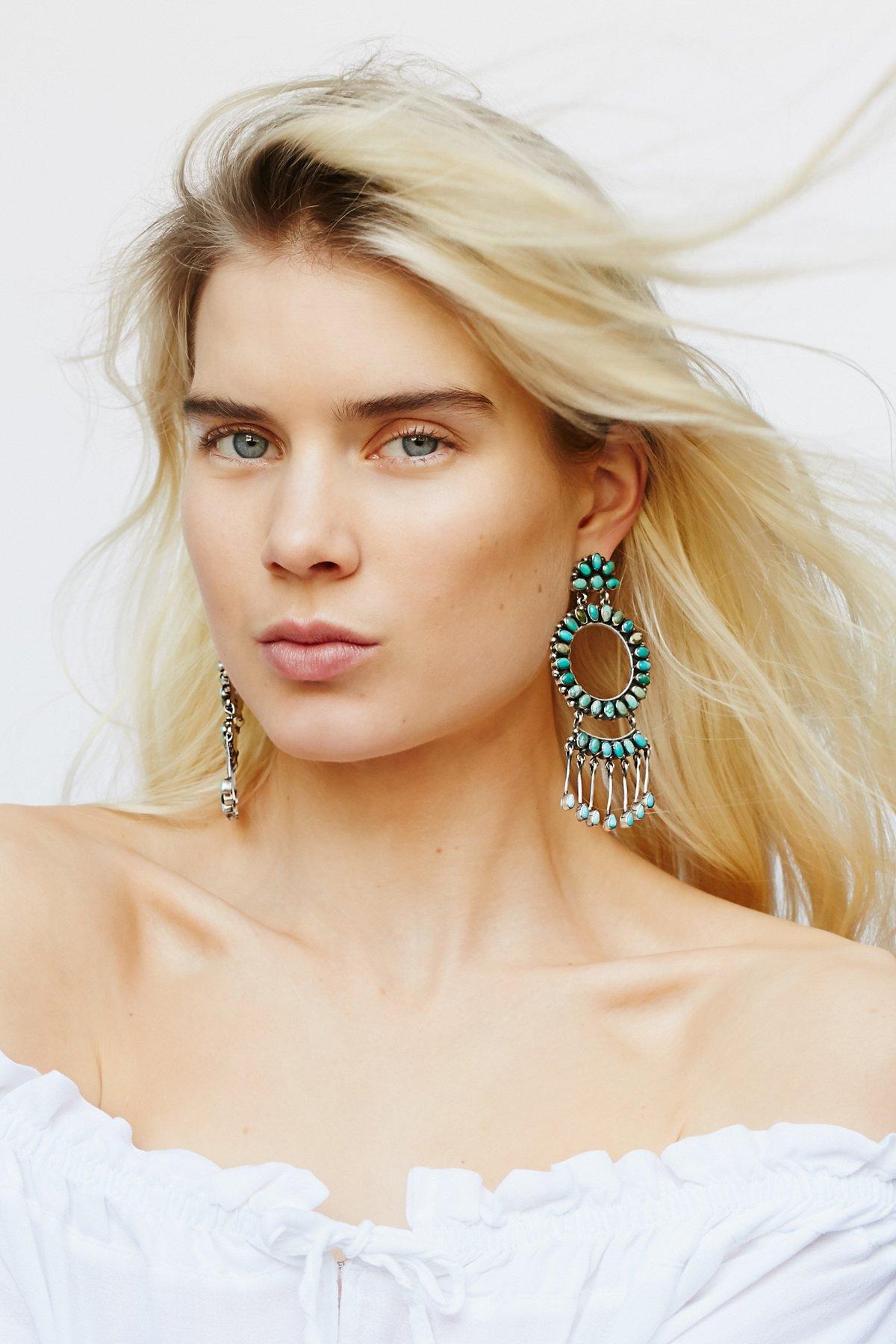 Blue Frost Turquoise Earrings