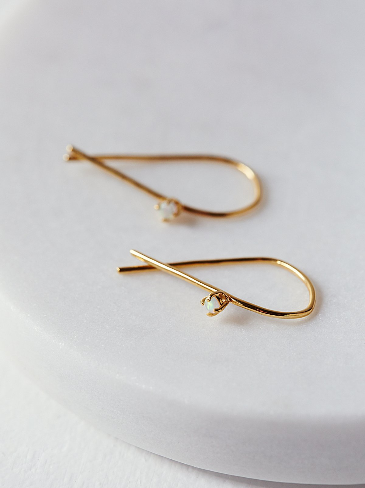 Opal Threader Hoops
