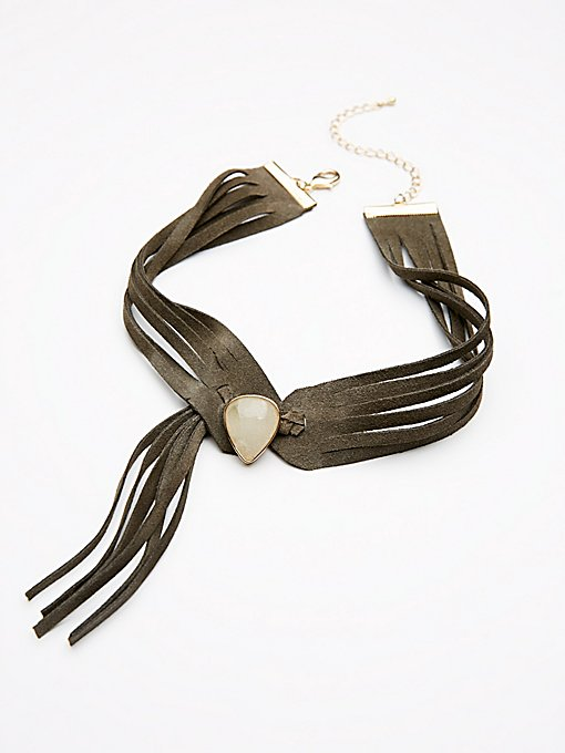 Product Image: Stone Front Leather Choker