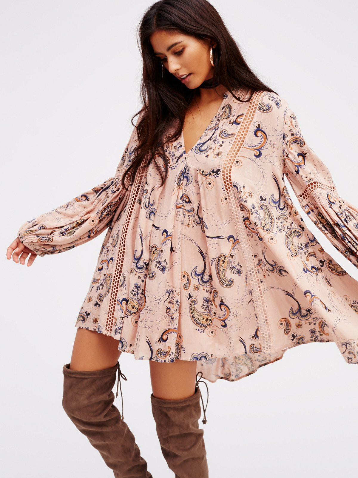 Just the Two of Us Paisley Printed Tunic