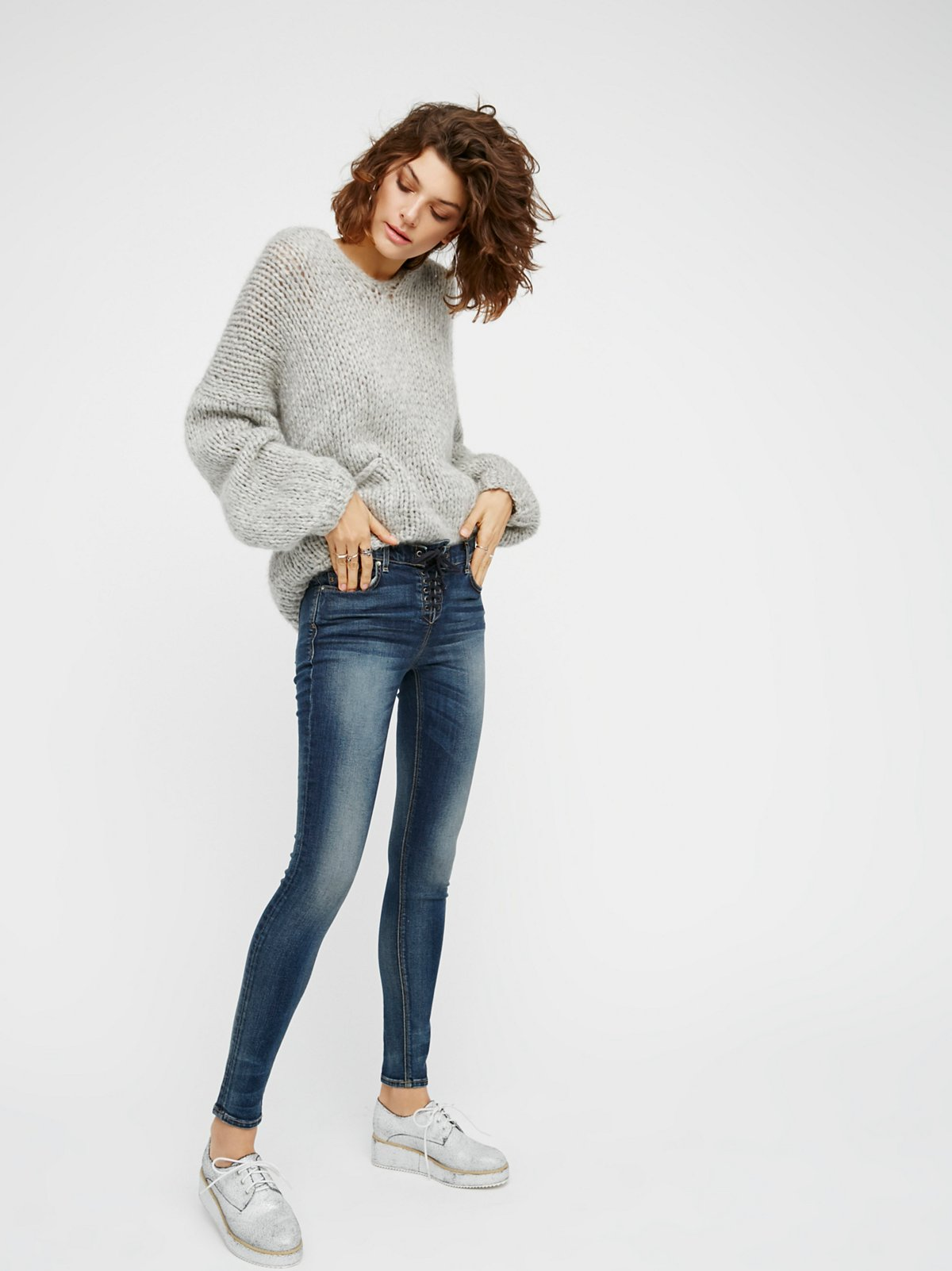Shoreline Slim Lace-Up Skinnies