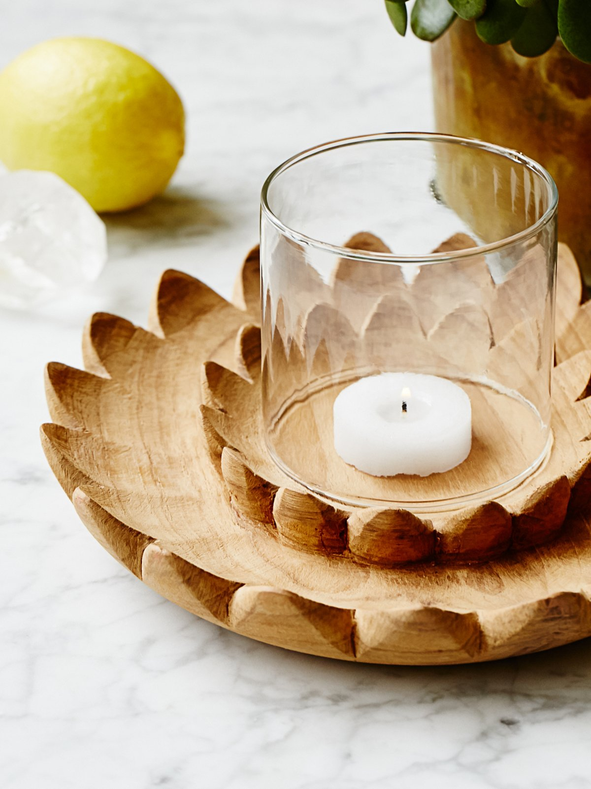 Small Lotus Votive Holder