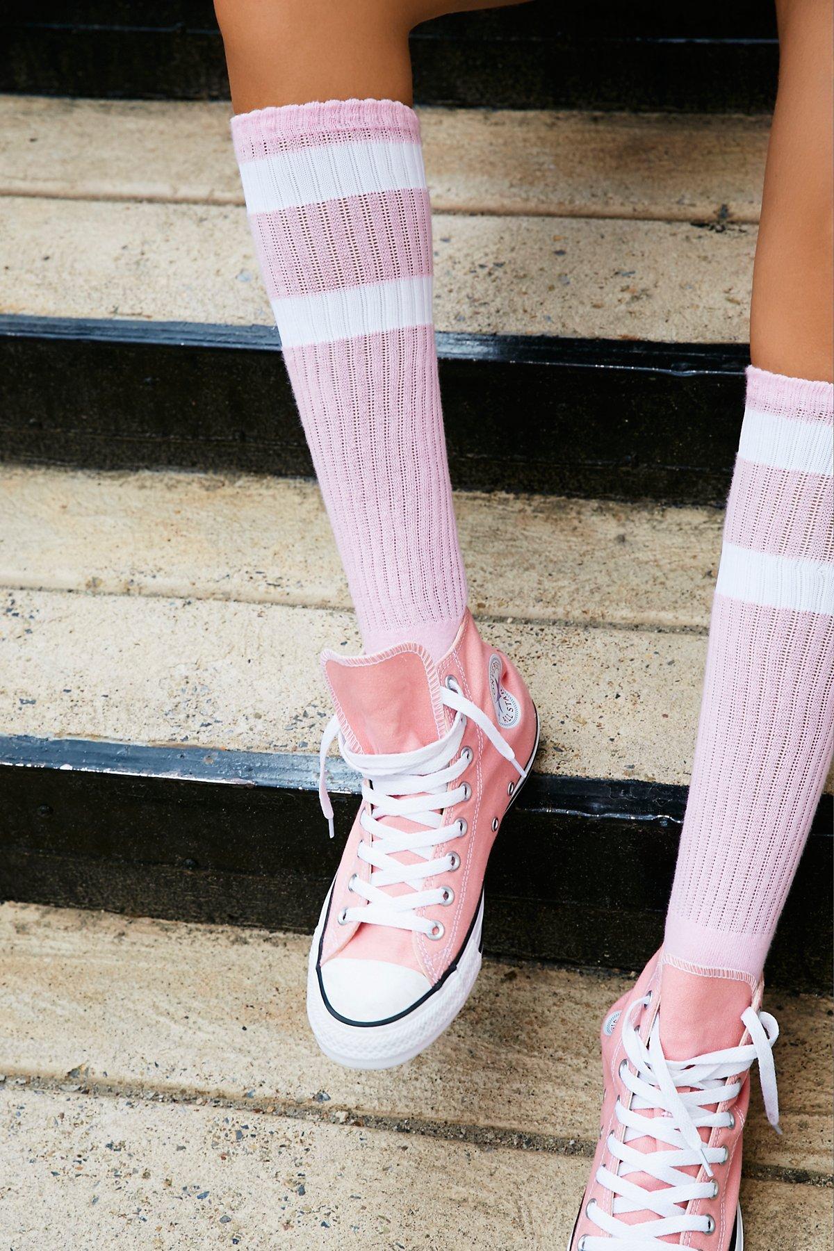 Top Stripe Knee Sock