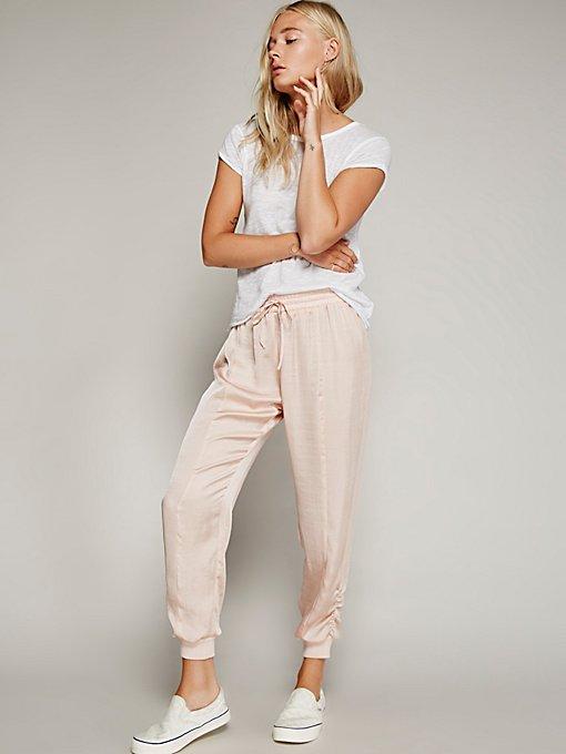 Product Image: 奢华缎质慢跑裤