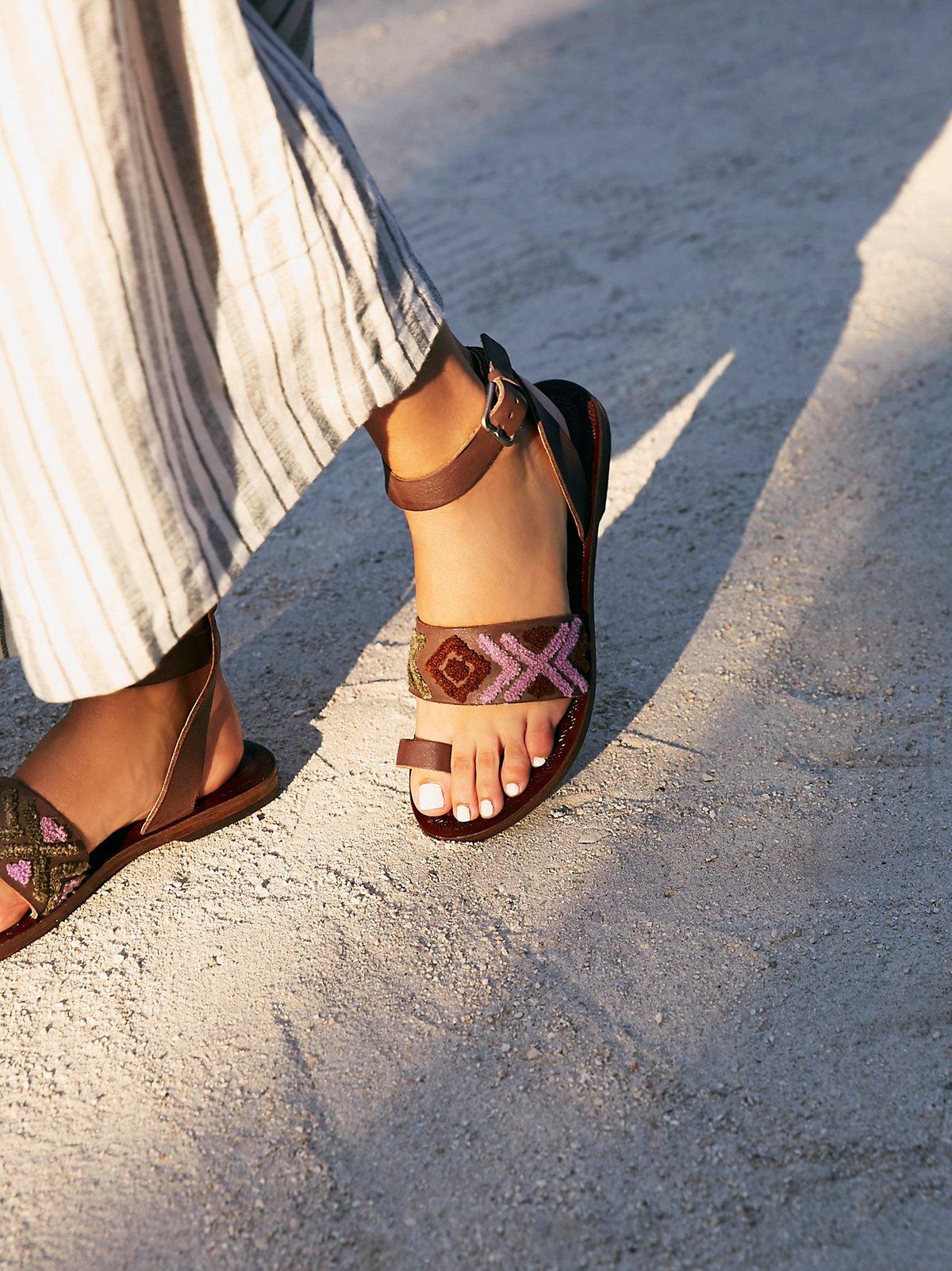 Torrence Stitch Flat Sandal