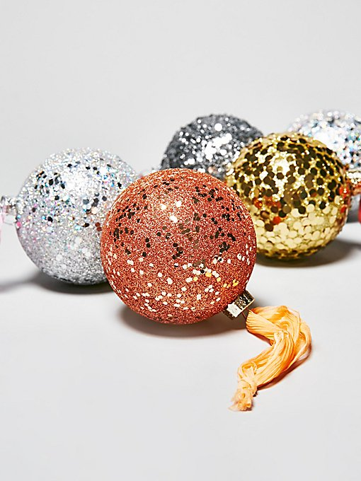 Product Image: Glitter Ball Ornament Set (6)