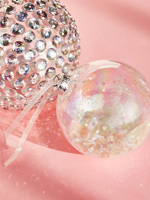 Product Image: Iridescent Glitter Filled Ornament