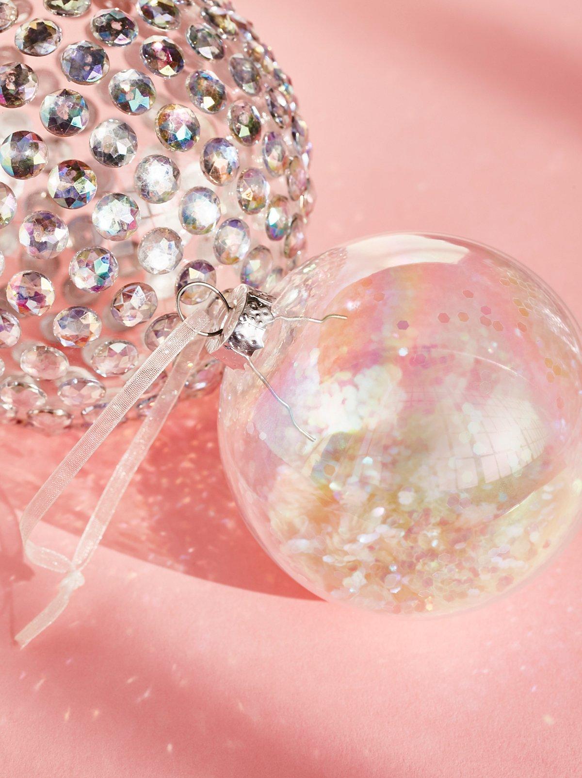 Iridescent Glitter Filled Ornament