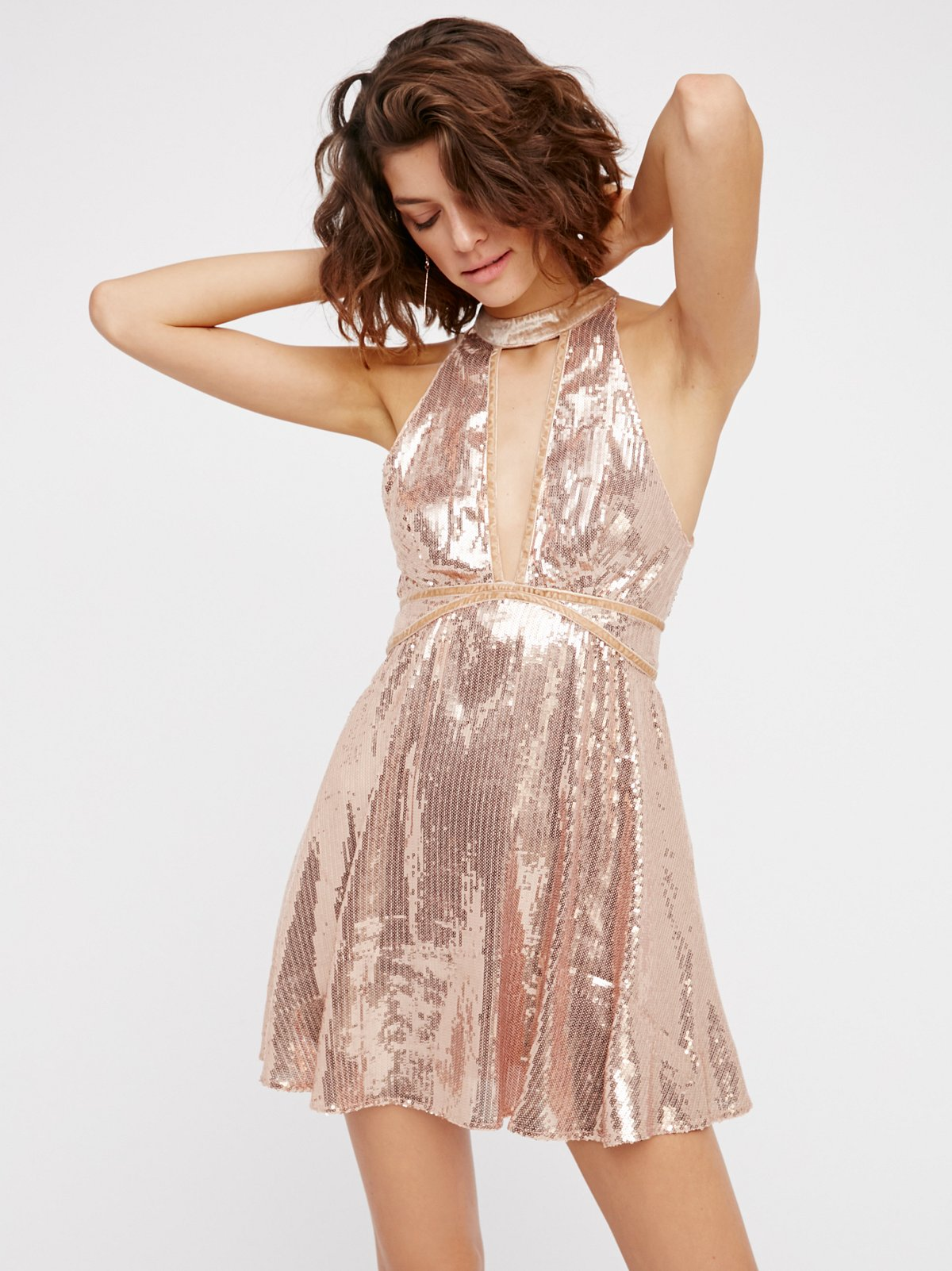 Film Noir Sequin Mini Dress