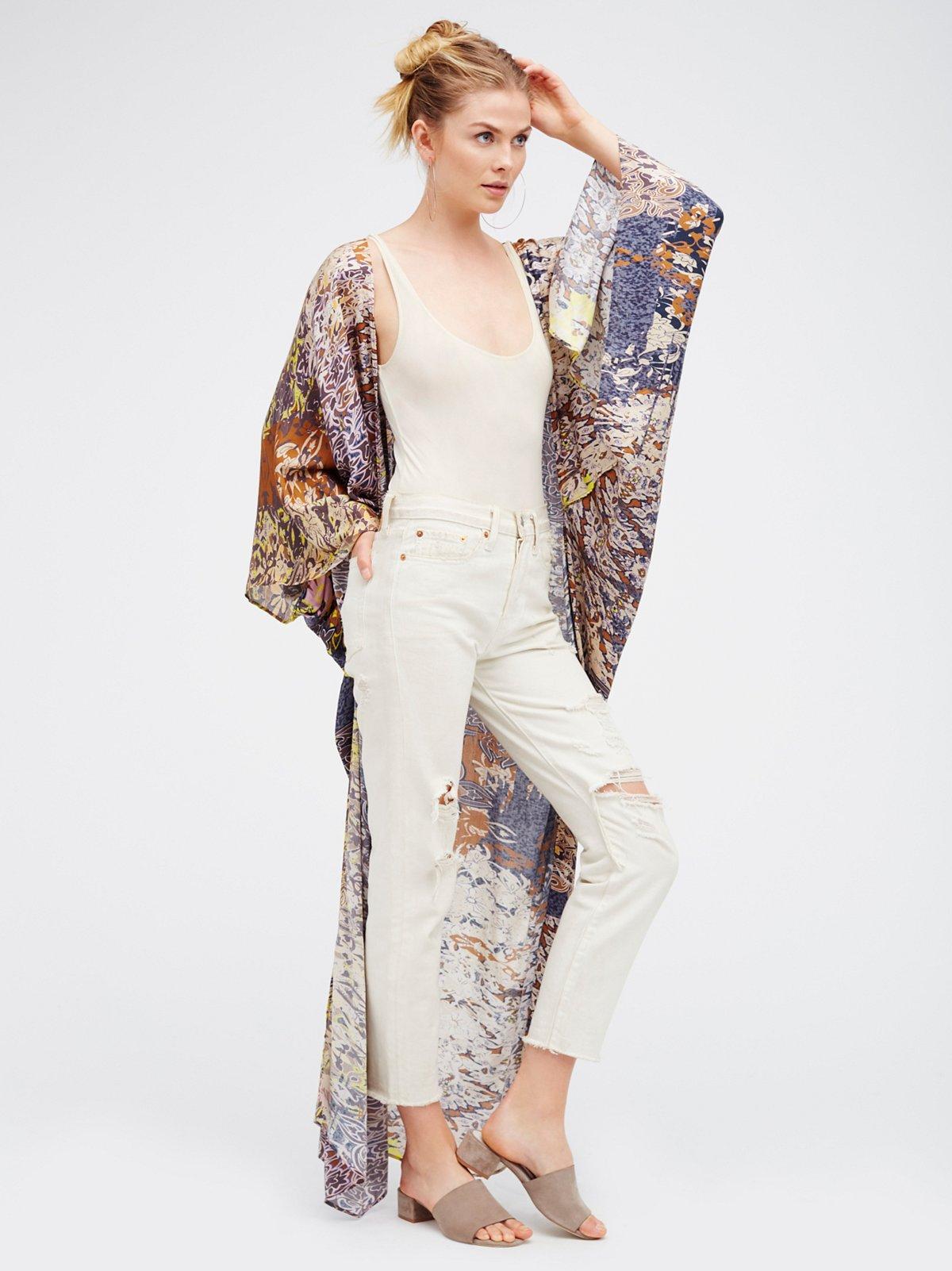 Serafina印花和服式上衣