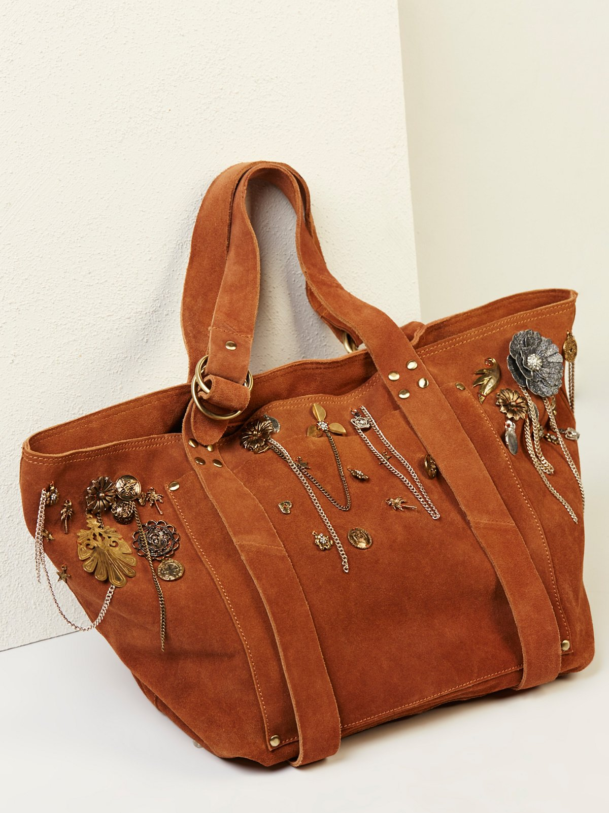 Charmed Suede Tote