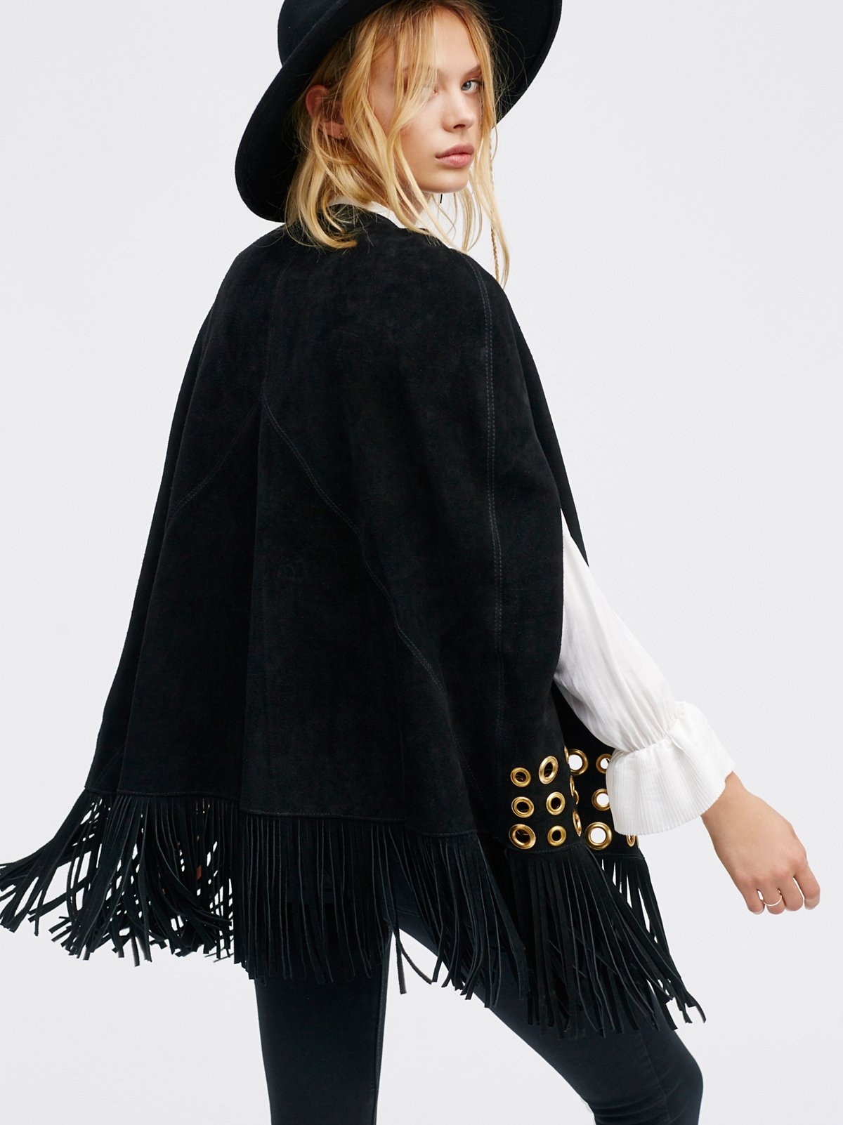 Backstage Suede Cape