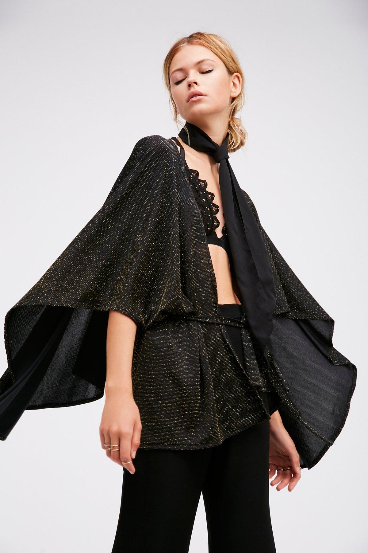 Sparkle & Shine Kimono Cape