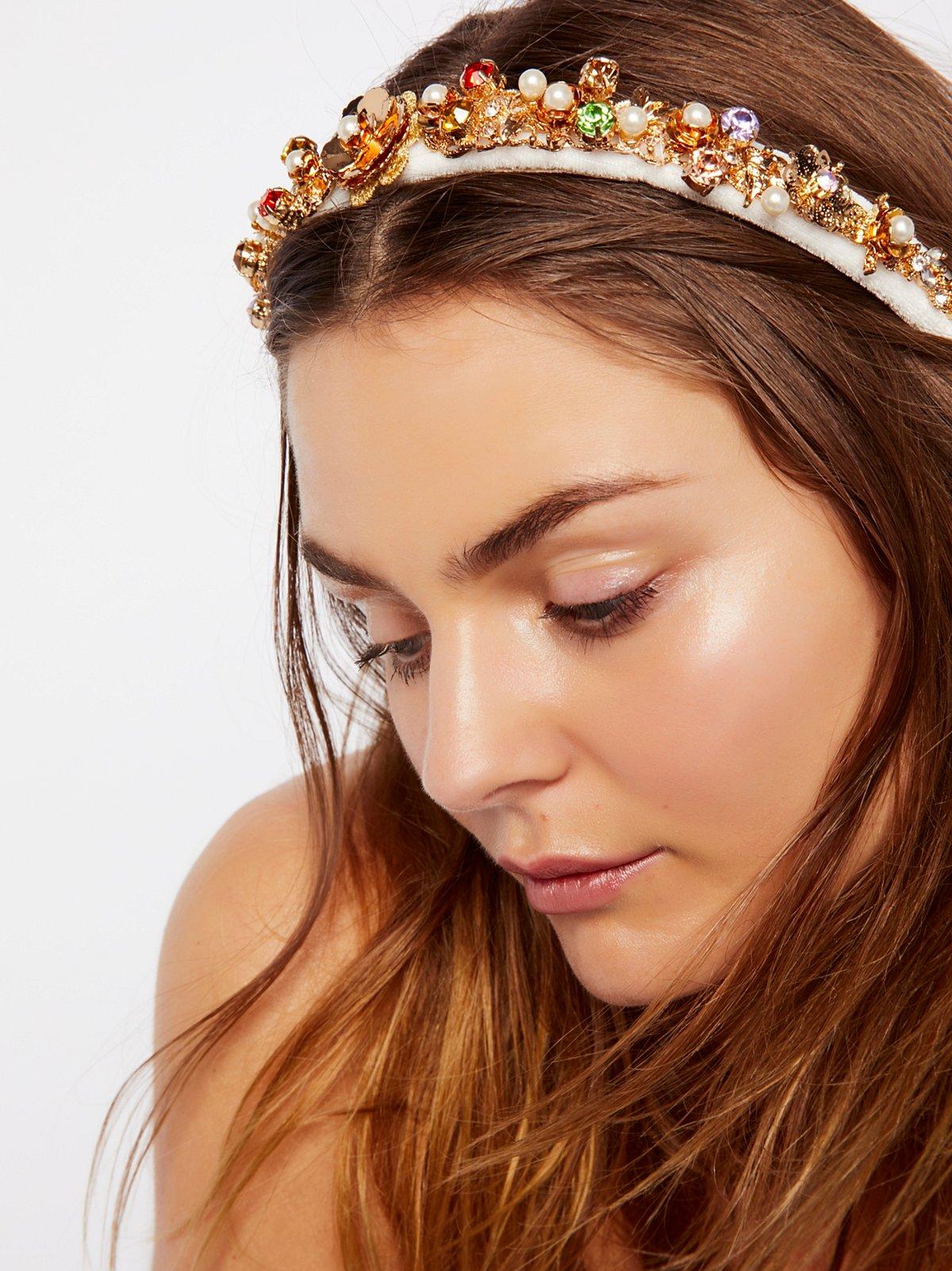 Jeweled Velvet Headband