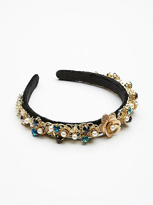Product Image: Jeweled Velvet Headband