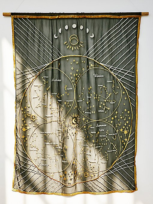 Product Image: Chiffon Star Chart Wall Hanging