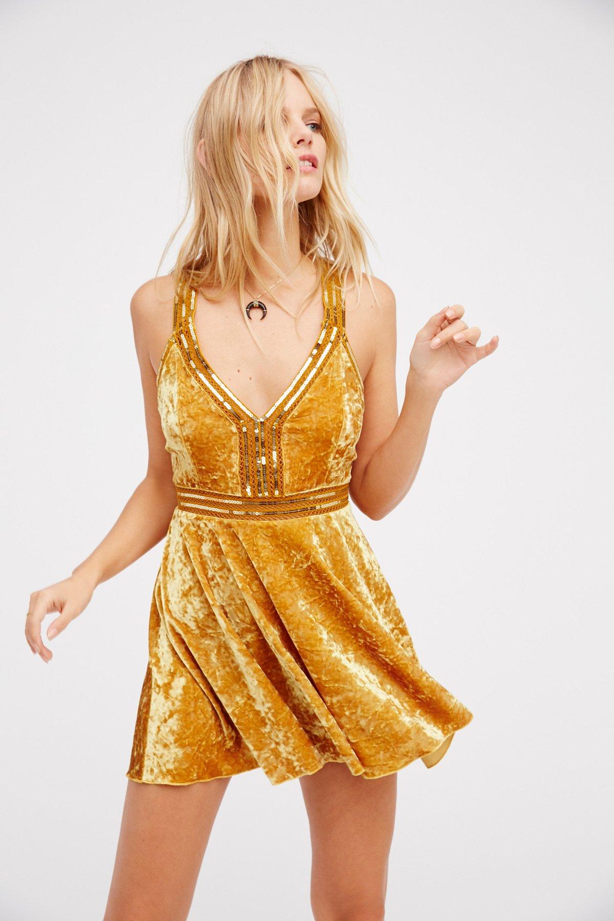 Heidi天鹅绒紧身喇叭裙