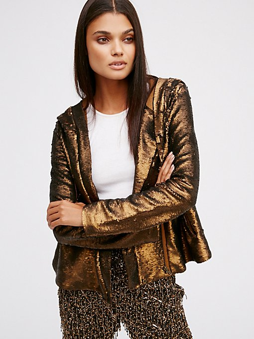 Product Image: Hooded Sequin Jacket