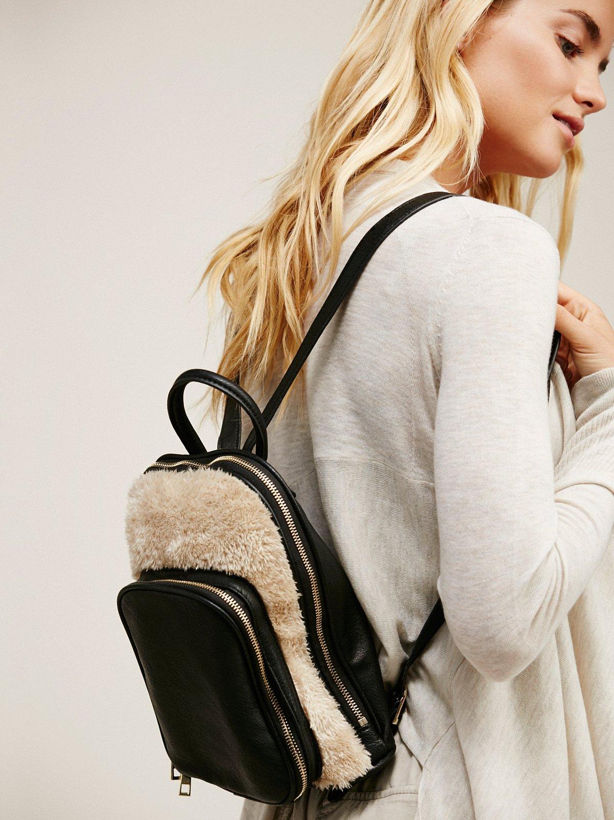Lyra Faux Fur Backpack