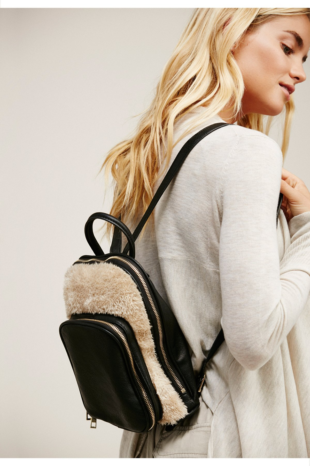 Lyra Faux Fur Backpack