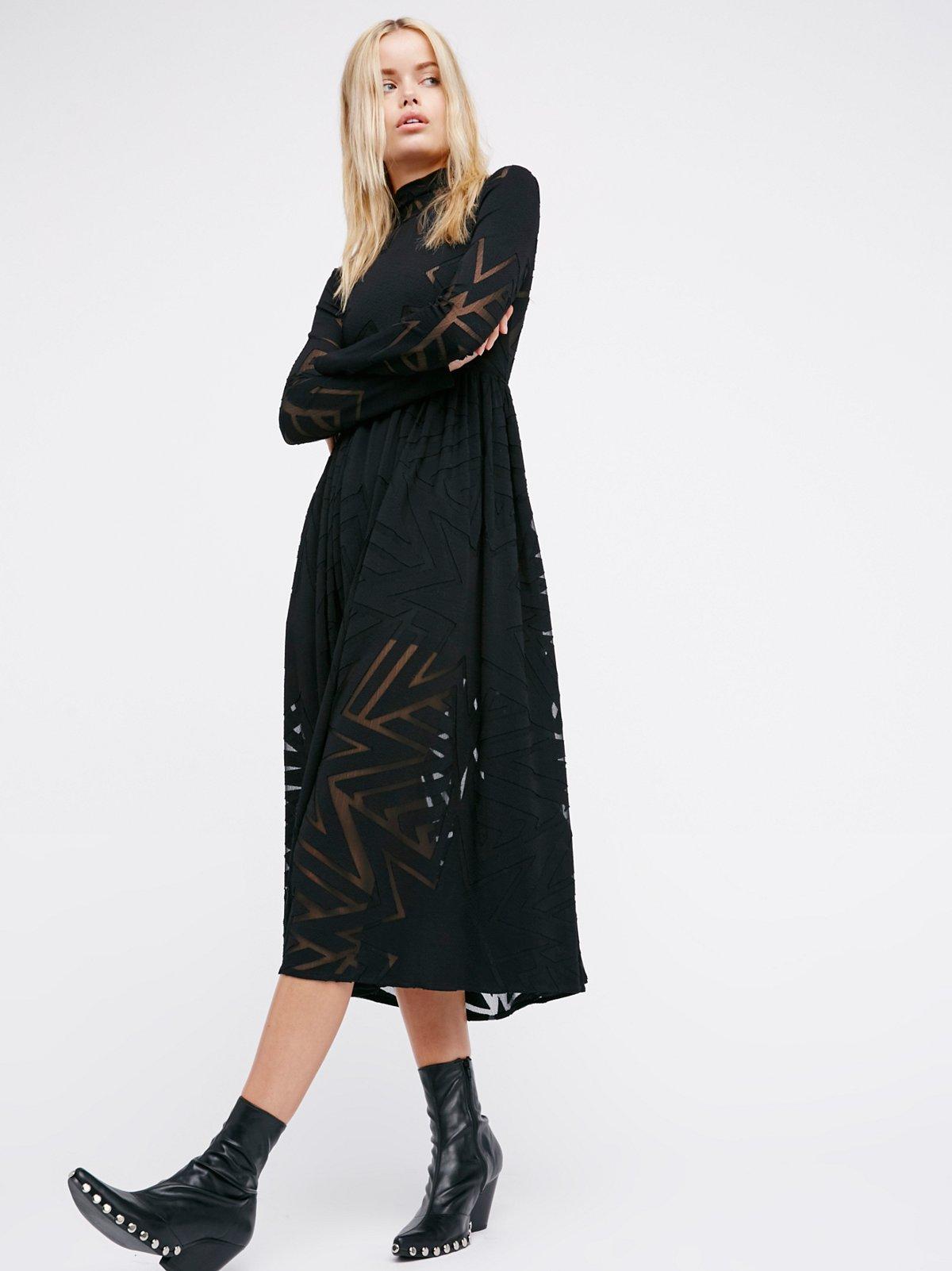 Burnout Midi Dress