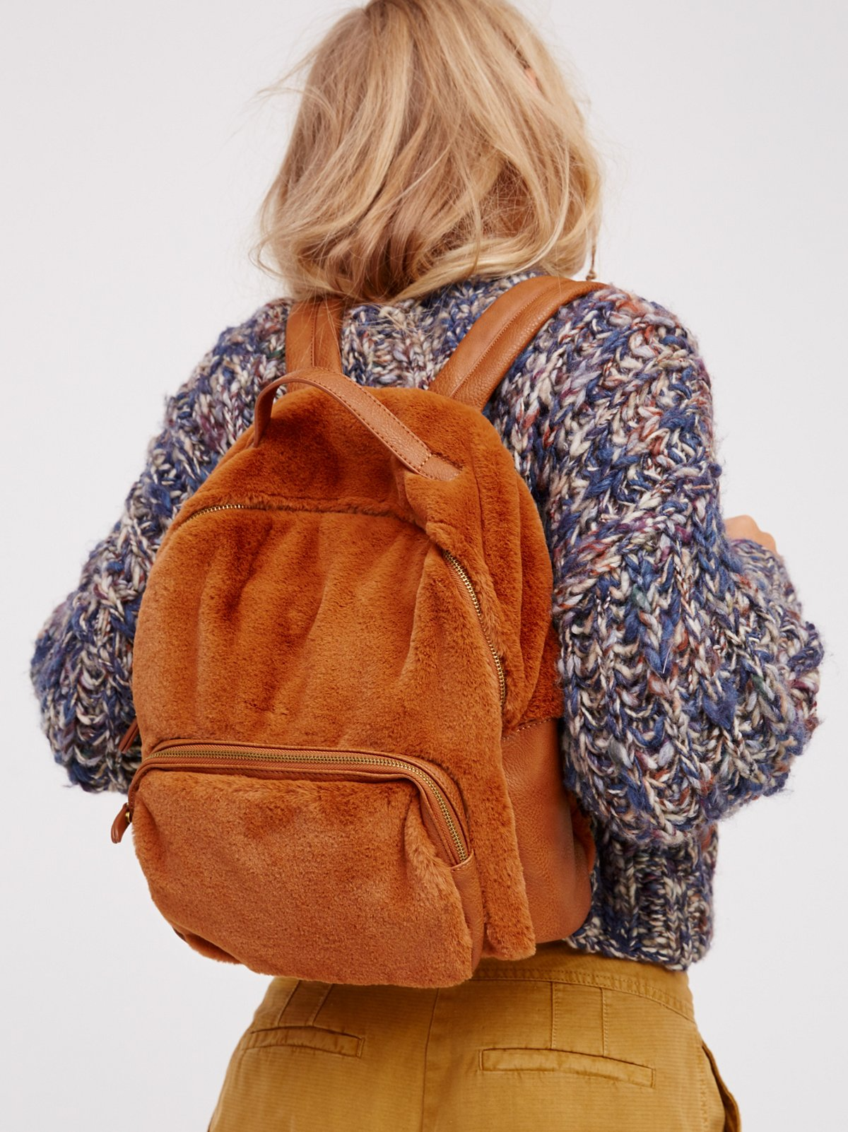 Russo Faux Fur Backpack