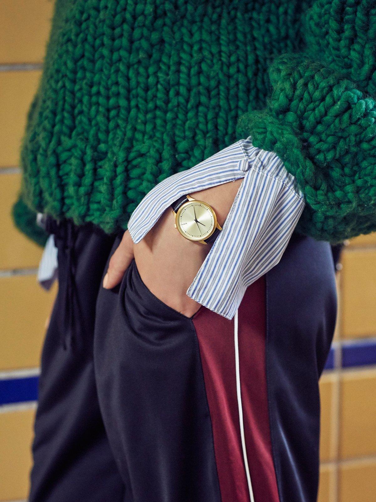 Estelle真皮表带腕表
