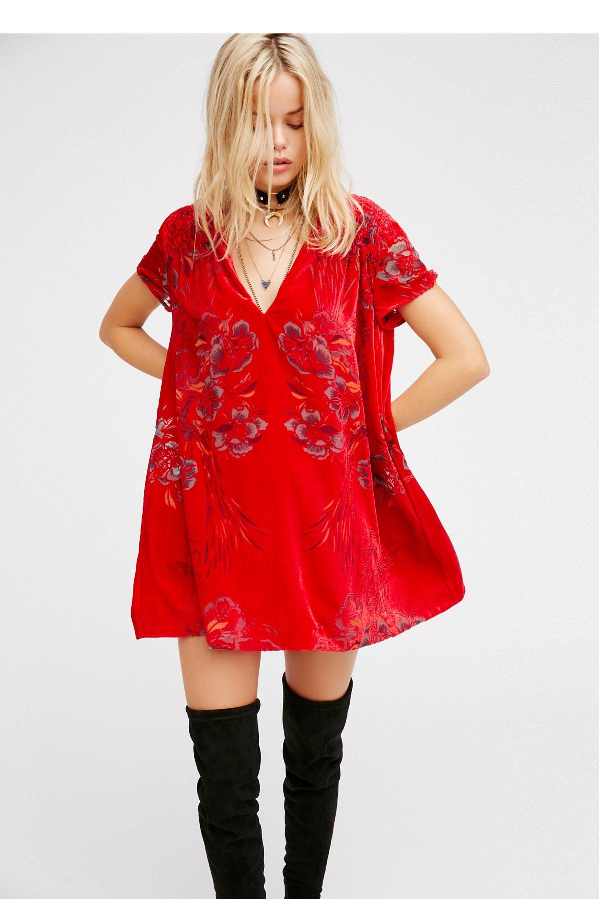 Actin' Single Velvet Mini Dress