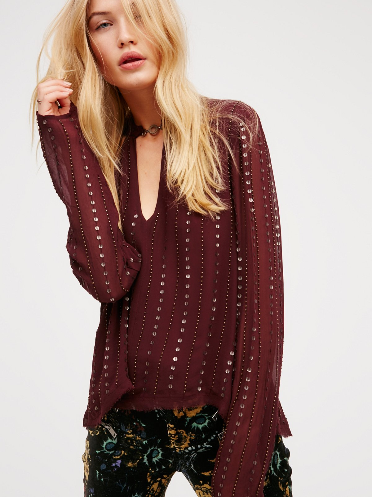 Young Love Embellished Top