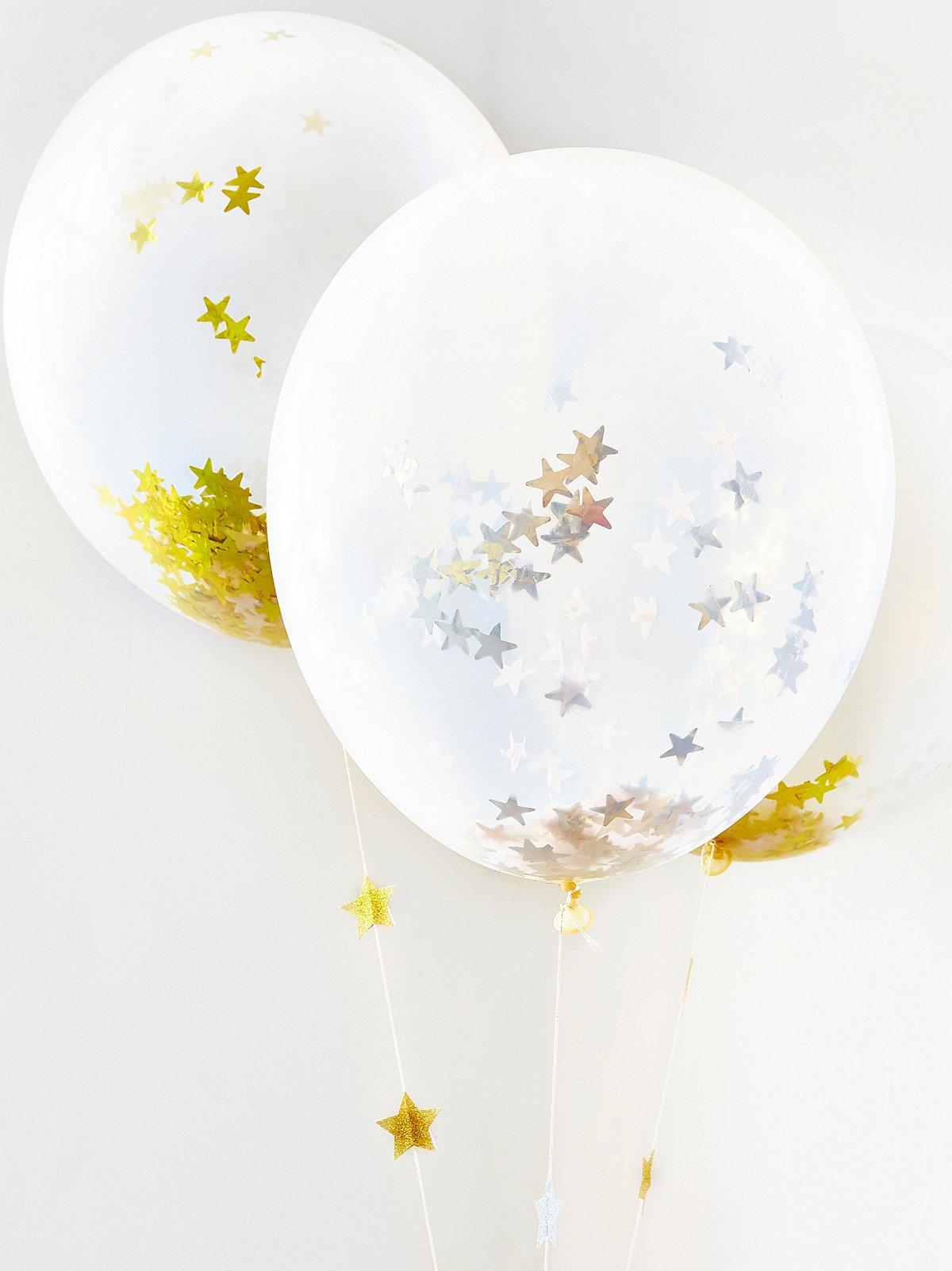 星形五彩纸屑大气球