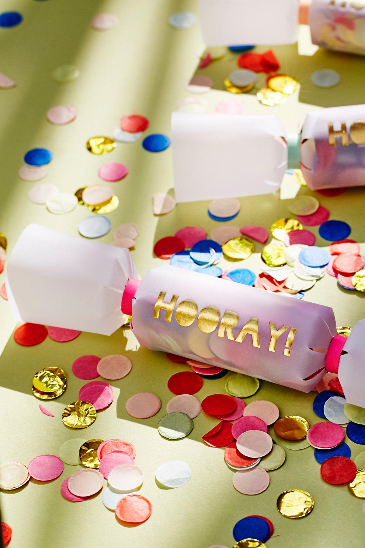 6pk Party Confetti Crackers