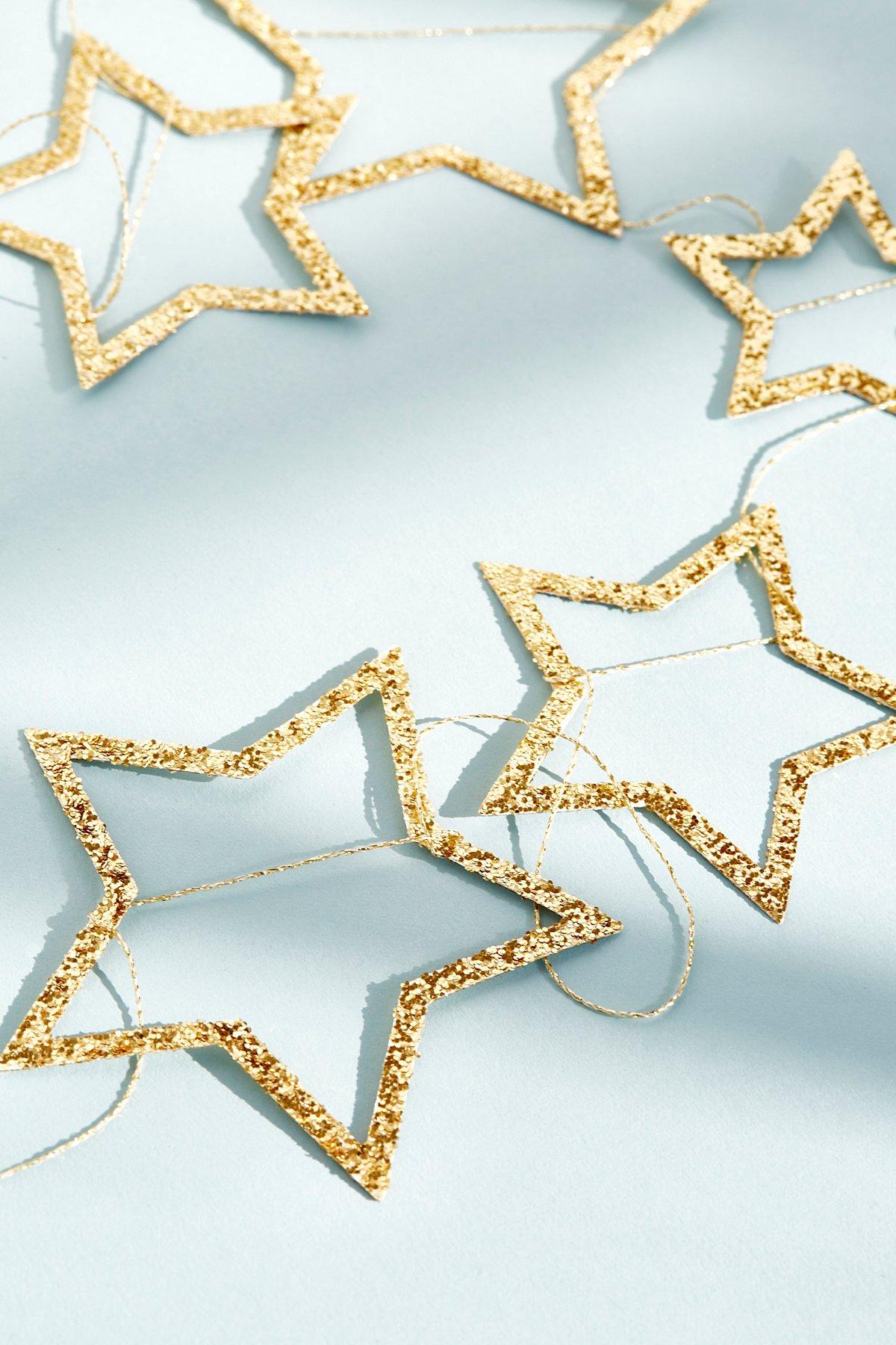 Glitter Star Party Garland