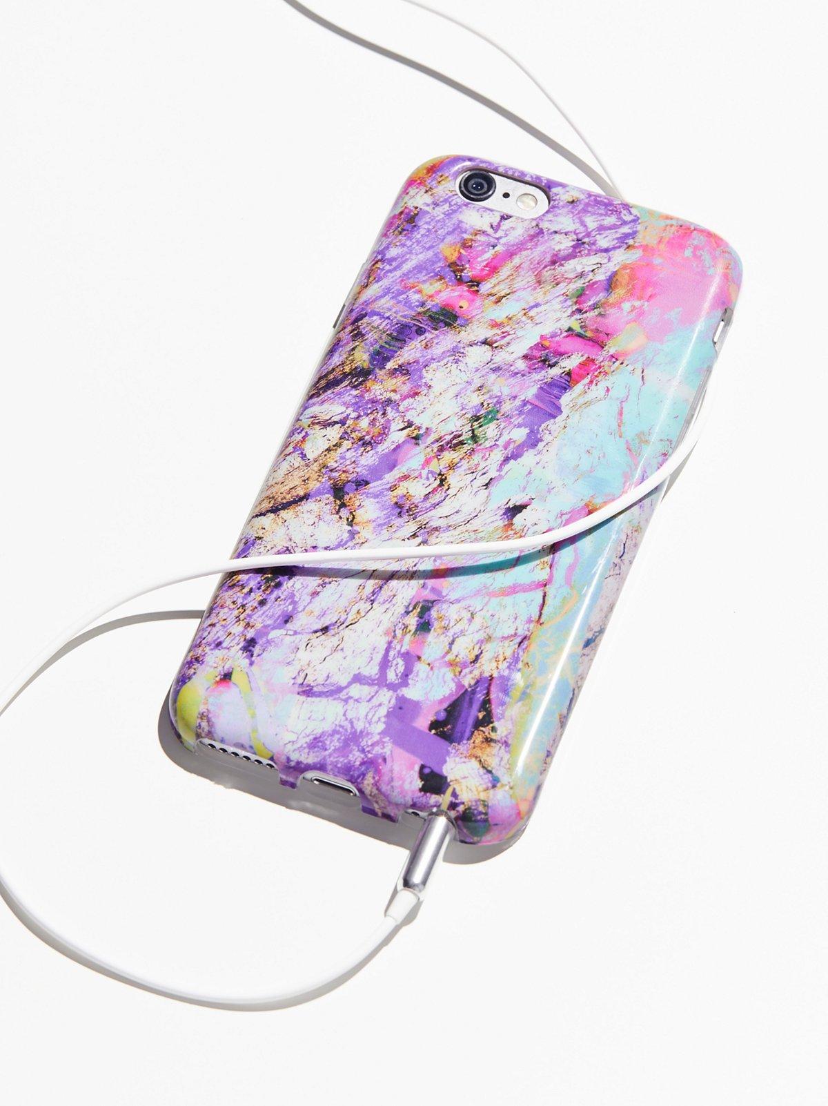 银河状大理石纹iPhone保护壳