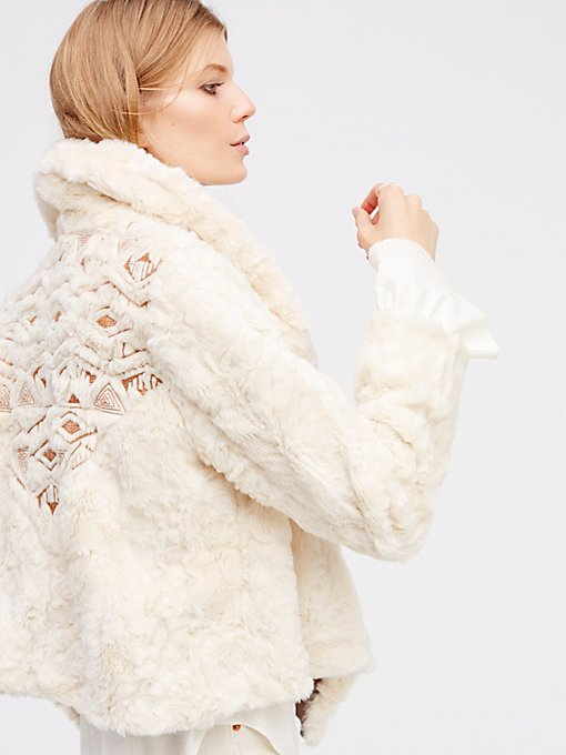 Product Image: Embroidered Cascade Fur Jacket