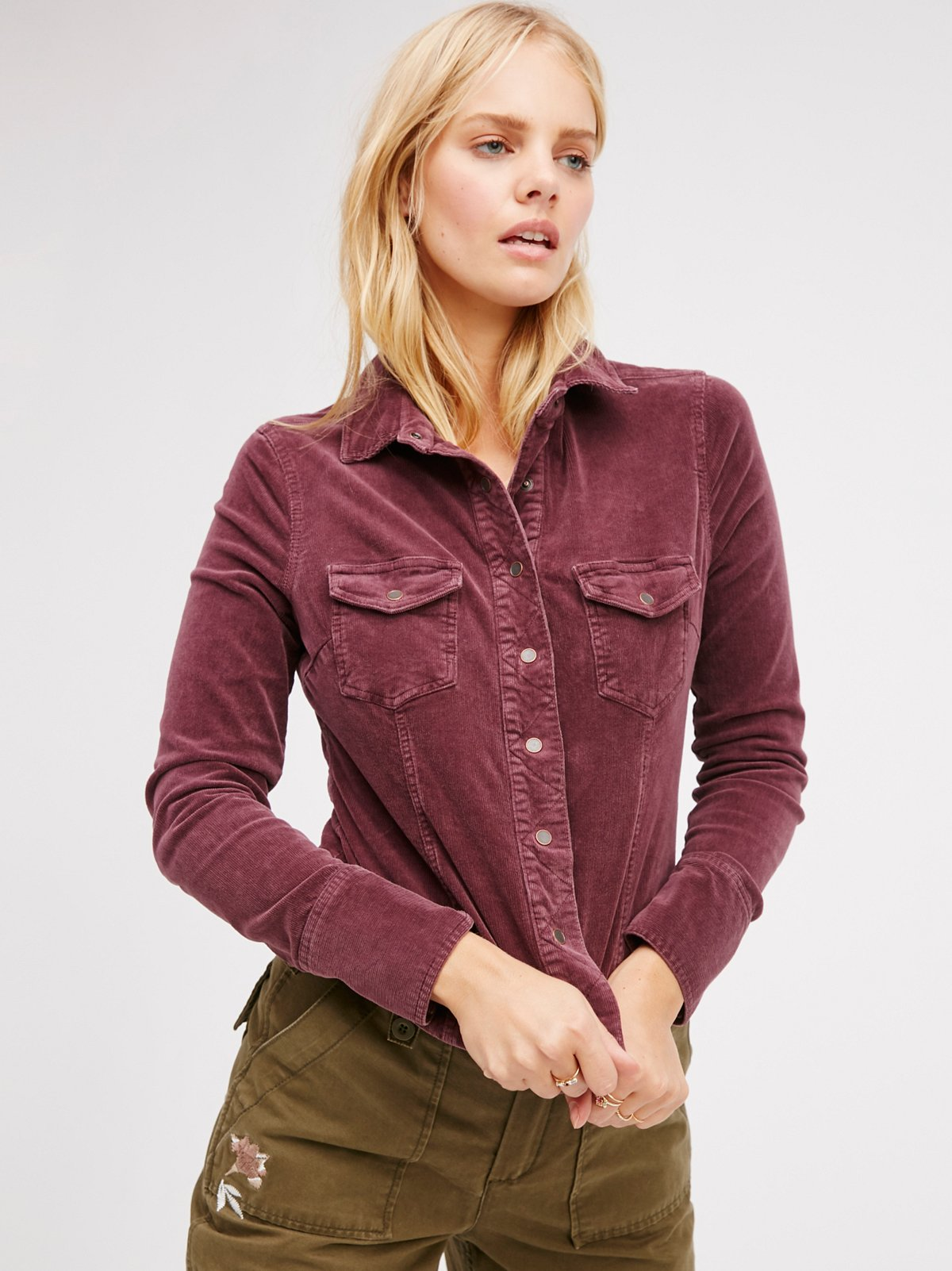 Rogue Slim Buttondown Cord Top