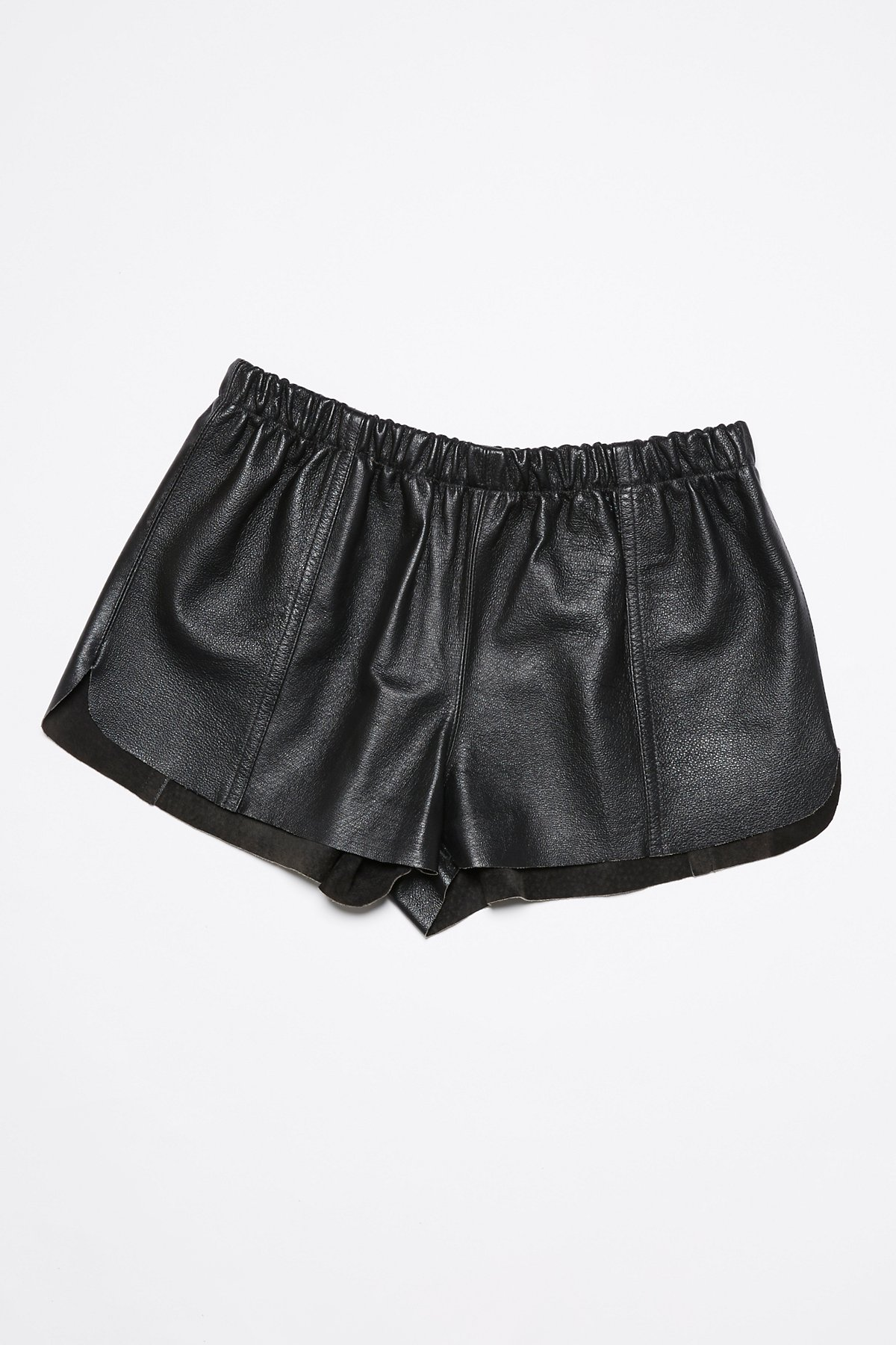 Vintage 1980s Leather Shorts
