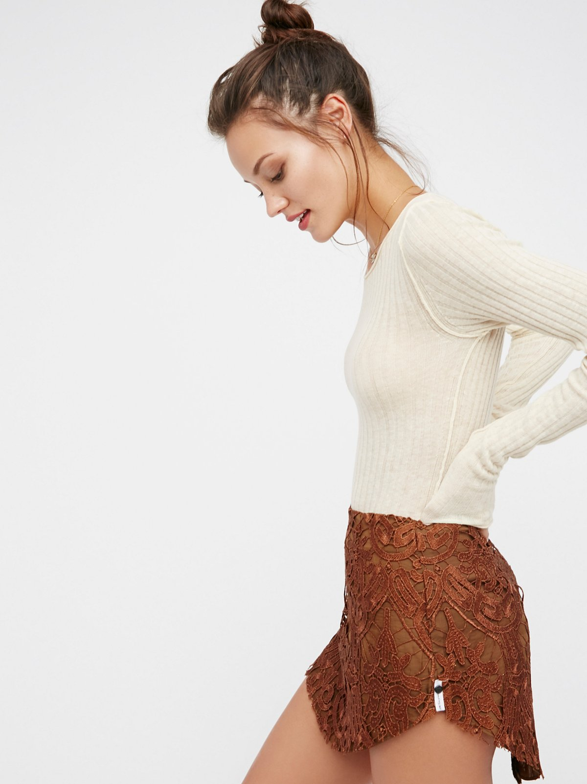 Malabar Lace Mini Skirt