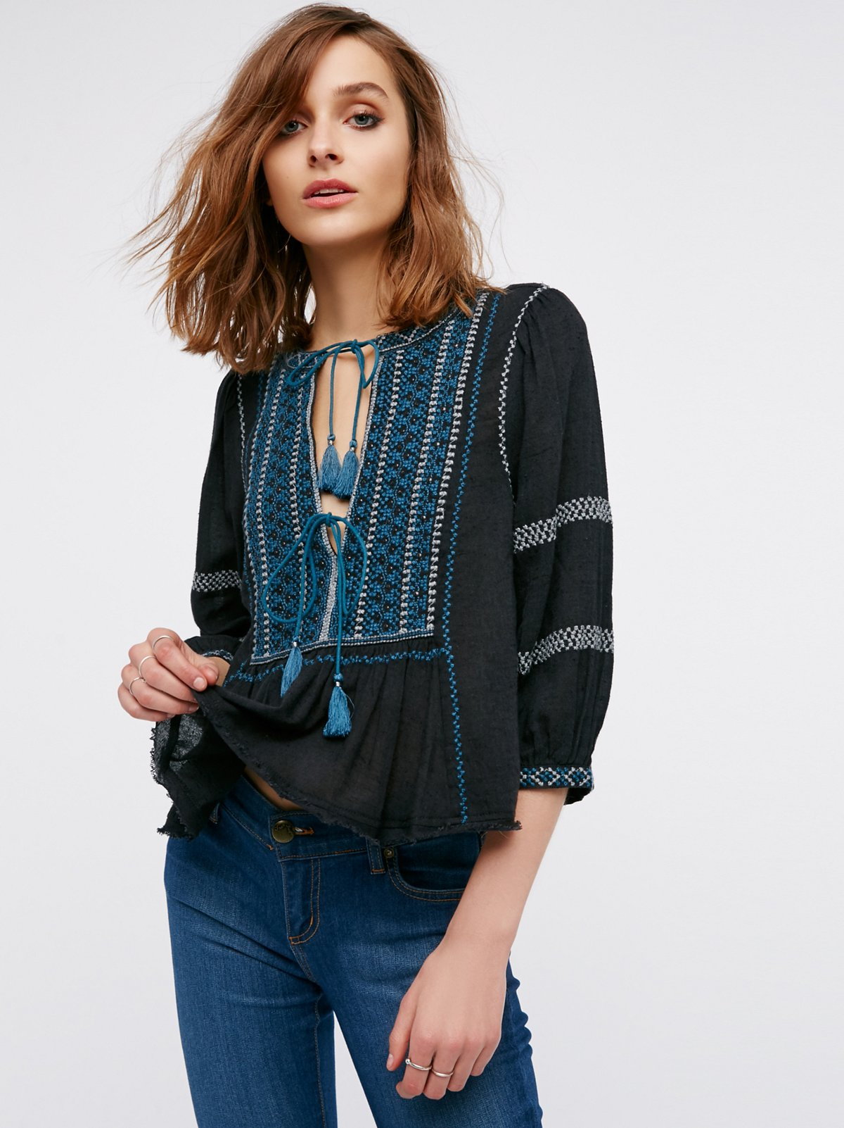 Wild Life Embroidered Top