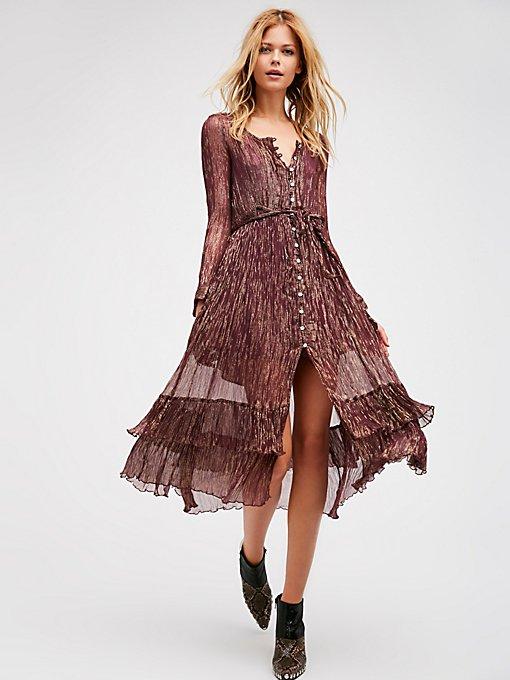 Product Image: 闪亮及踝衬衫式连衣裙
