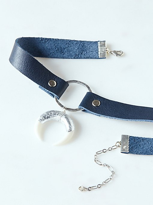 Product Image: Foiled Horn Leather Choker
