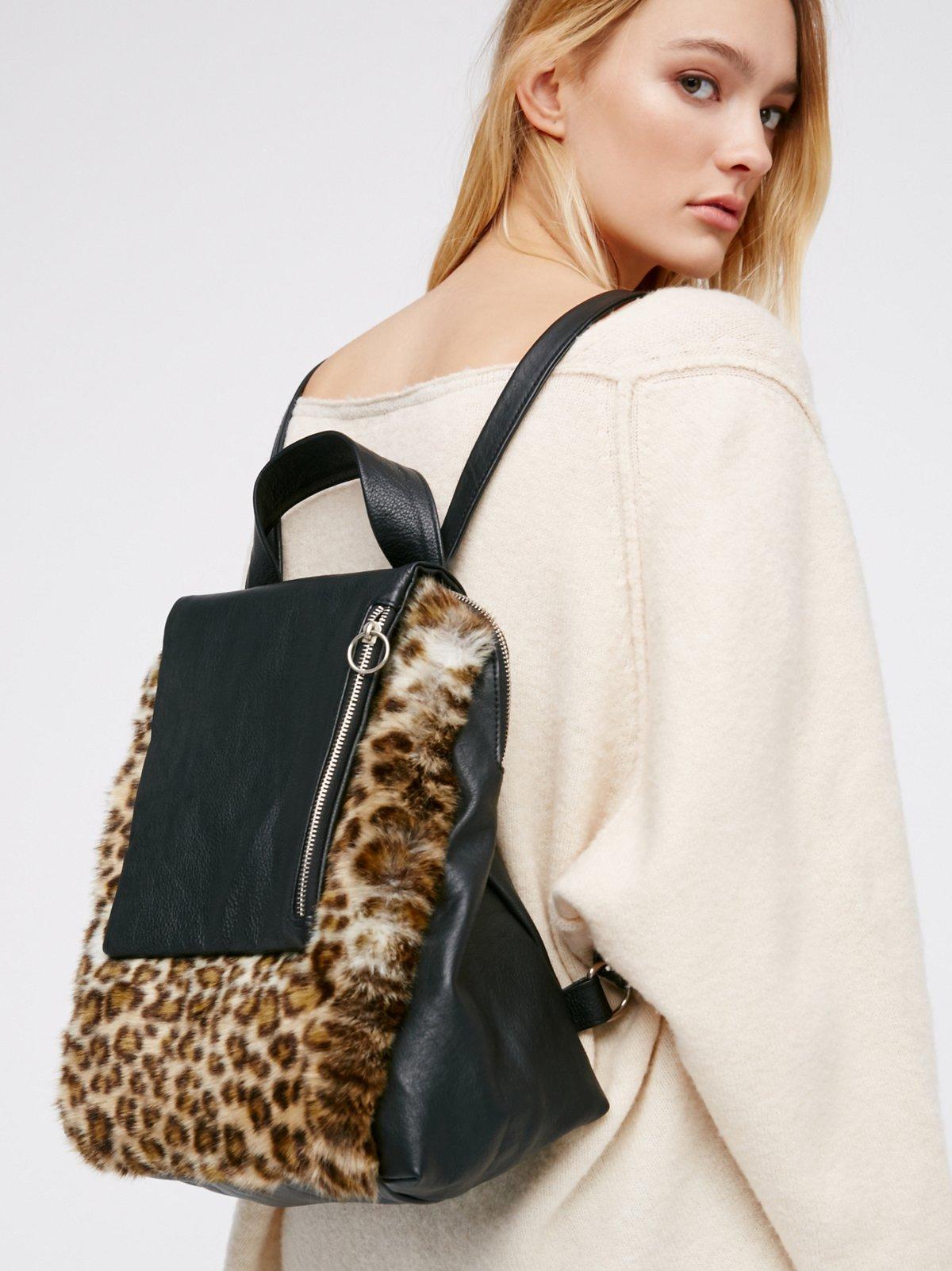 Dominique Faux Fur Backpack