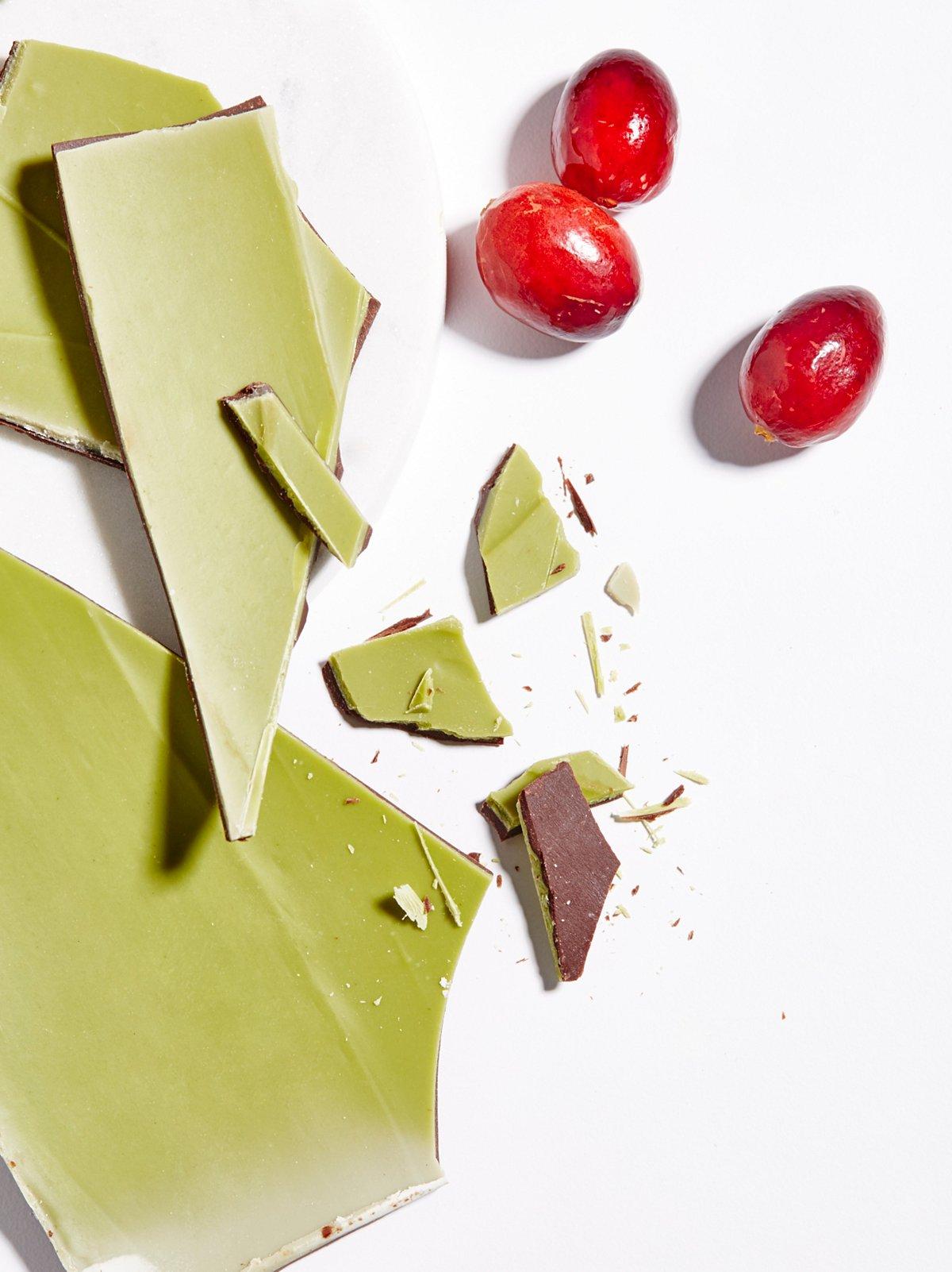 Chocolate Matcha Mint Bark