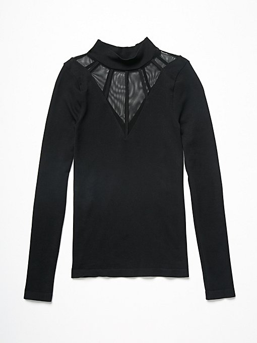 Product Image: Mesh Cage Mock Neck Top