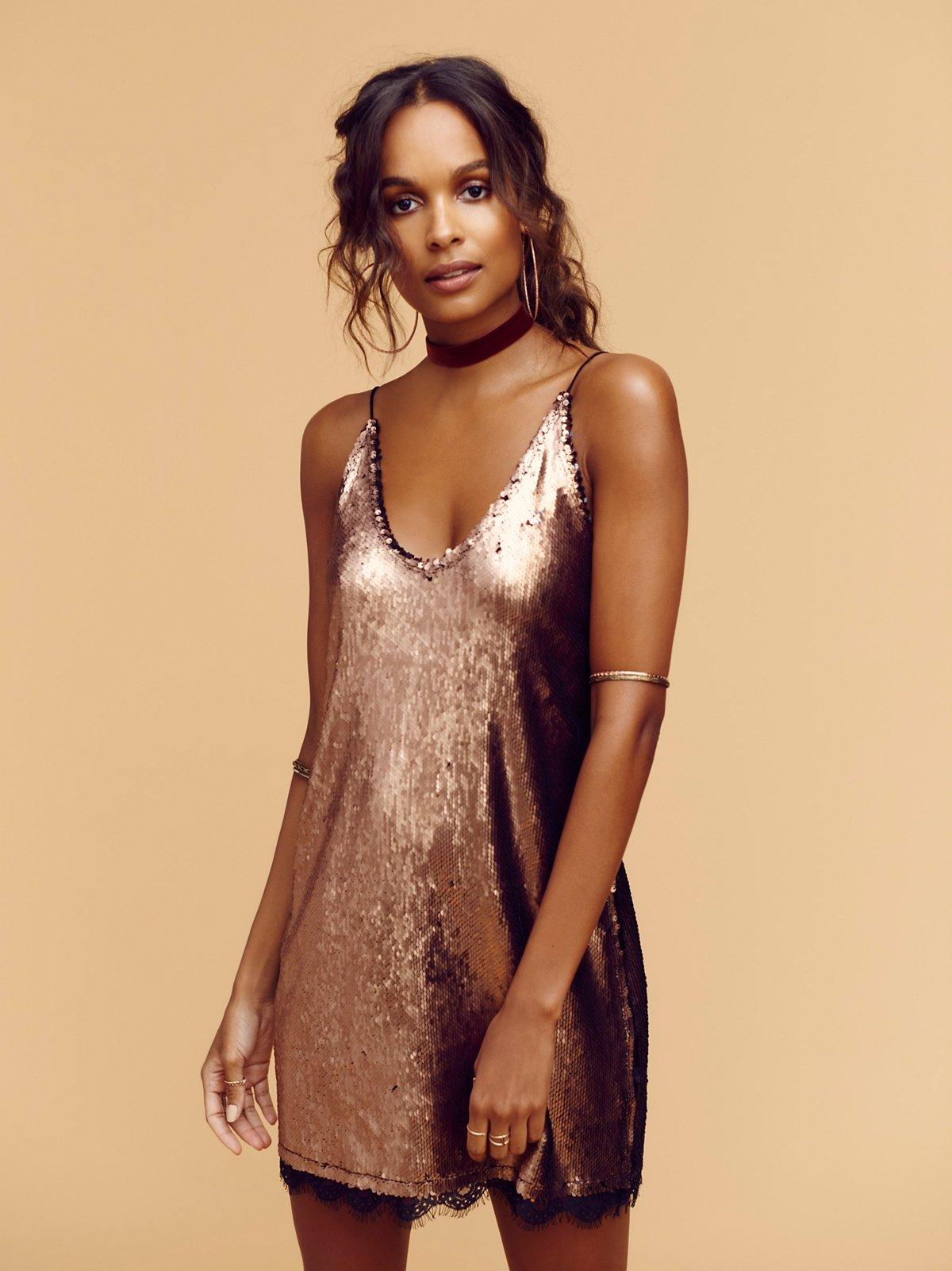 Intimately Seeing Double Sequin Slip at Free People Clothing Boutique