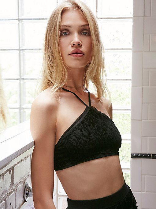 Product Image: Just Look Don't Touch Velvet Bralette