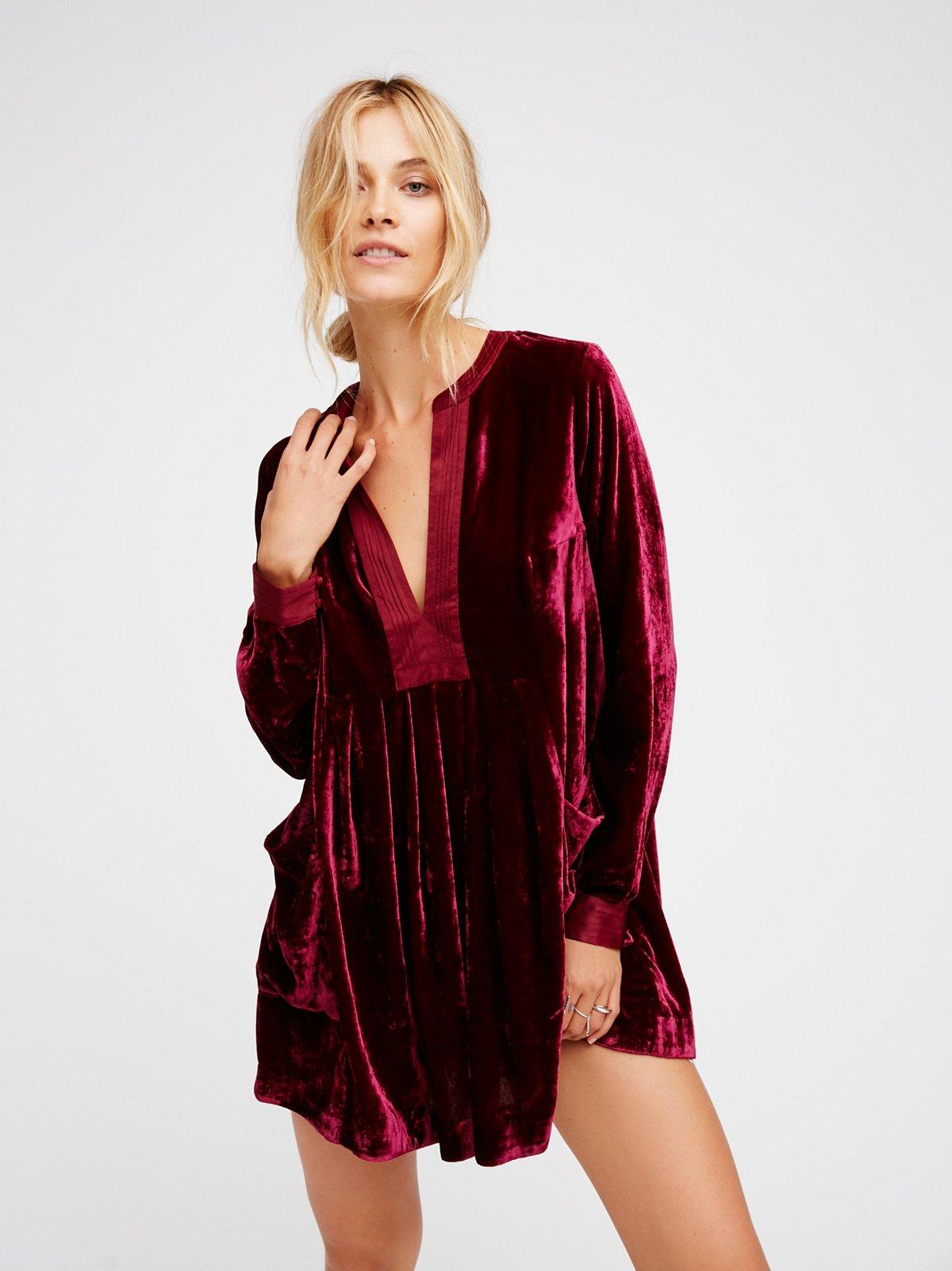 choose me velvet mini at free people clothing boutique