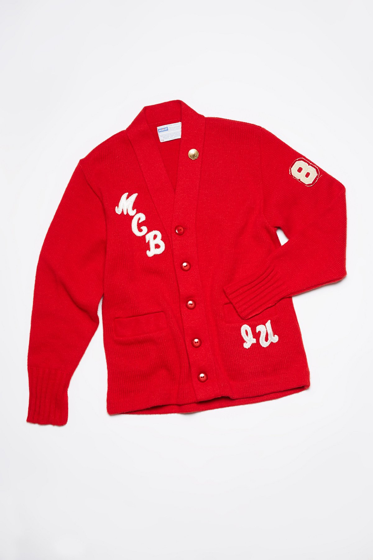 Vintage Patched Letterman Sweater