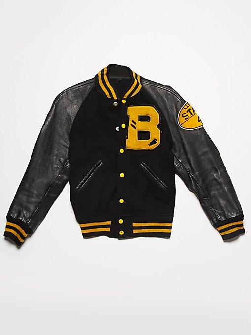 Product Image: Vintage 1970s Wool & Leather Letterman Jacket