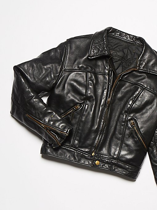 Product Image: Vintage 1970s Leather Motorcycle Jacket