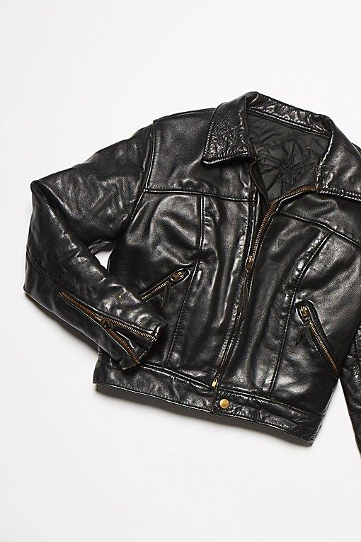 Product Image: Vintage 1970s Leather Motorcycle Jacket